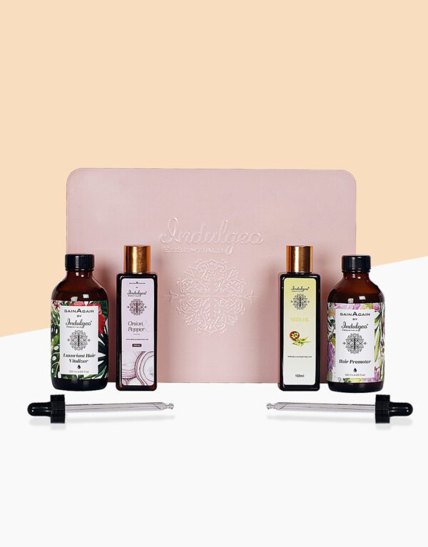 Love Is In The Hair Combo- Hair Vitalizer+Growth Promoter+Onion & Pepper Hair Oil+Neem Oil
