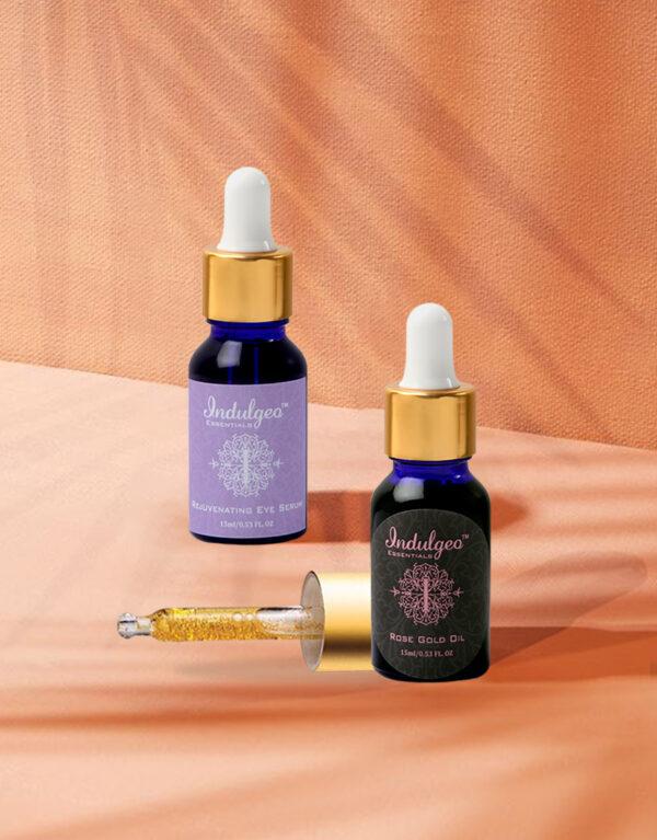 Combo-Rose Gold Oil+Rejuvenating Eye Serum